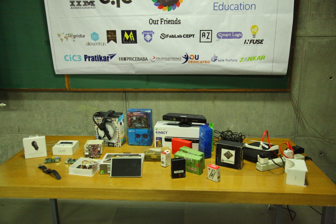 Some of the awesome gadgets on display.